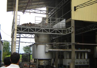 Biogasification of wood in northern Cambodia